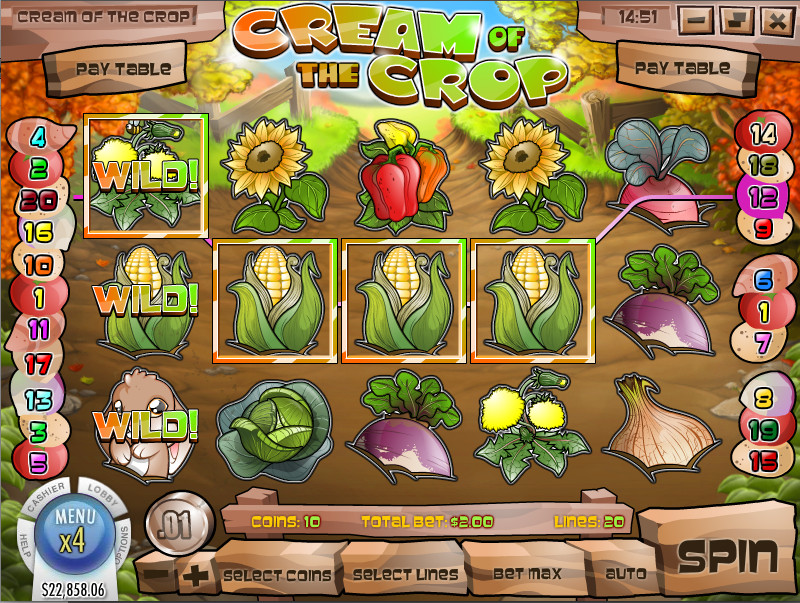 Cream of the Crop Slot Machine - Play for Free Now